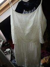IVORY BRODERIE ANGLAISE PLAYSUIT SIZE MEDIUM BNWT GEORGE