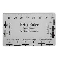Fritz Ruler Guitar String Action Gauge String Pitch Ruler Card Luthier Tool /Neu