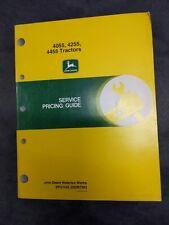 John Deere 40554255 And 4455 Tractors Service Pricing Guide Manual