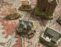 Set Of 4 VTG Lilliput Lane 1980's Cottages Handmade Cumbria, UK READ DESCRIPTION
