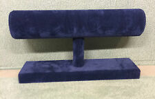 Single Tier Bangle Bracelet Unit Stand Jewellery Displays (Navy Blue Suedette)
