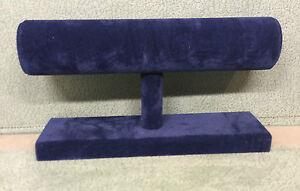 Single Tier Bangle Bracelet Unit Stand Jewellery Displays (Navy Blue Suedette)