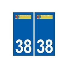 38 Satolas-et-Bonce logo ville autocollant plaque stickers arrondis