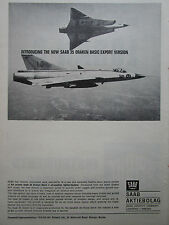 11/1965 PUB SAAB 35 DRAKEN FIGHTER BOMBER ROYAL SWEDISH AIR FORCE ORIGINAL AD