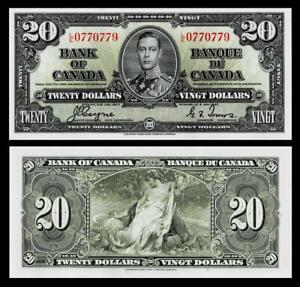 1937 Canada $20 Dollar Banknote<< GEM UNCIRCULATED