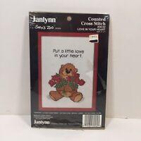 "Love in Your Heart Janlynn Cross Stitch Kit 5"" x 7"" Suzy Zoo"