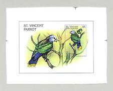 St Vincent #2421 Parrots, Birds 1v S/S Imperf Chromalin Proof