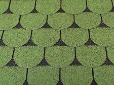 Dachschindeln 3 m? Biberschindeln Grün (21 Stk) Schindeln Dachpappe Bitumen