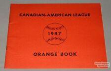 Orig 1947 Canadian American Baseball League Media Guide