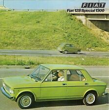 Fiat 128 1300 Special 1975-76 UK Market Foldout Sales Brochure