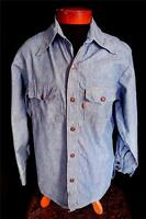 RARE BIG E COLLECTIBLE LEVI VINTAGE 1970'S BLUE DENIM SHIRT JACKET SIZE LARGE