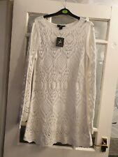 Ladies Lace Knit Dress /tunic Size Medium 10/12 would fit 14