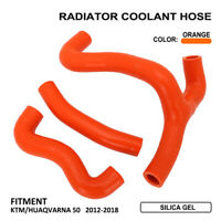 Silicone Radiator Coolant Hose Kit For KTM Husqvarna SX50 SXS50 MINI 2012-2018