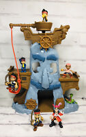 Disney's Jake The Never Land Pirates Captain Hook Adventure Figures Playset Lot