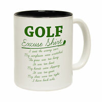 Golf Excuses Out Of Bounds Tea Novelty Golfer Idea MUG cup birthday funny gift
