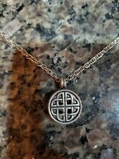 Oil Pewter Handmade 24 inch chain Diffuser Necklace Celtic Love Knot Essential