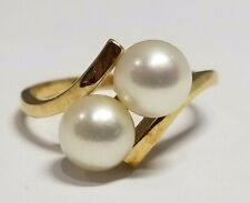 Gorgeous 14K Yellow Gold 6.3mm Mikimoto Pearl Ring