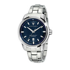 Maserati Watch R8853121004 Successo Date Window-Blue / Stainless Steel