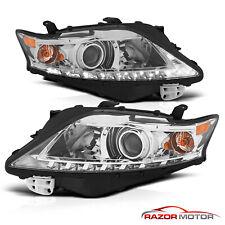 For 2010-2012 Lexus Rx350 Suv Led Bar Projector Chrome Headlights Pair (Fits: Lexus)