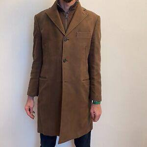 BOGGI cappotto Uomo testa di moro fustagno gilet trapuntato interno tg 50 Bello