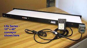 """MINI-MOVER Lite Series Conveyor 4"""" x 5' (5-88 fpm)"""