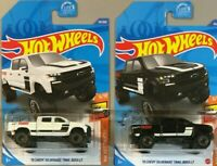 2020 Hot Wheels '19 Chevy Silverado Trail Boss LT LOT of 2 NEW Black White