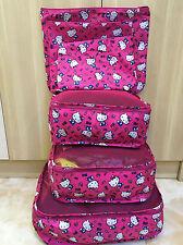 Hello Kitty 6PCS Travel Luggage Organizer Set Storage Pouche Suitcase KK905
