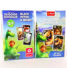 Good Dinosaur Playing Card Games Black Peter / Memo. Karty do gry Dobry Dinosaur