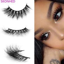 3D100% Mink Hair False Eyelashes Long Fluffy Natural Thick Makeup EyeLashes New