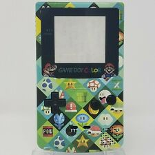 Mario Bros Pattern Gameboy Color complete handheld custom housing shell backlit