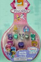 💎 Sparkle Pet Pack SHIMMER AND SHINE Teenie Genies 5 Pets & 5 Rings 💎