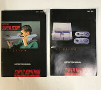2 And Super Scope (SNES Super Nintendo) Instruction Manual Only.. NO GAME