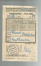 1942 Germany Mauthausen Concentration Camp money order Receipt Wenzel Vohandra