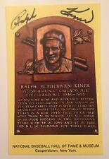 Ralph Kiner autographed HOF Plaque Postcard