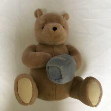 "GUND Classic Pooh Winnie the Pooh LARGE Plush Stuffed HUNNY HONEY Pot 17"" Brown"