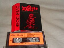 "OVER DOSE ""chasse à l'homme"" demo tape  french metal   RARE !!!!!!"