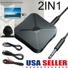 2 in1 Wireless Bluetooth 5.0 Audio Transmitter Receiver Music Adapter RCA AUX