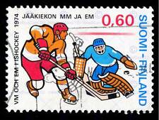 FINLAND POSTAGE STAMP VINTAGE ICE HOCKEY PHILATELY ART PRINT POSTER BMP1315B