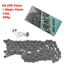 BMX MTB Z99 Bicycle 9 Speed Bike Chain 110 link + Magic Button Fit Shimano SRAM