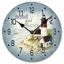 Lighthouse Sand & Sea Clock * Nautical Coastal Design in Presentation box