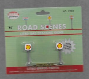N Scale Model Power lited gas station sign SHELL #8580 NIP