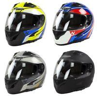 Nitro N2300 Crash Helmet Full Face Men Women Motorcycle Motorbike Sun Visor
