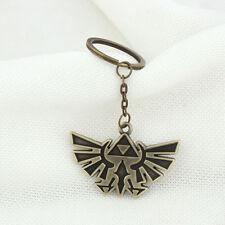 1* New Legend of Zelda Triforce Keychain Zelda Logo Key Chain / Keychain Bronze