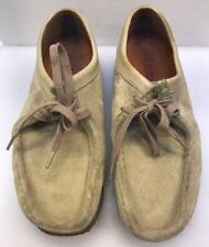 Clarks Women 8.5 M US Originals Wallabees Low Shoes Sand Light Tan Suede Leather