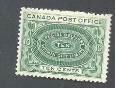 Canada 1898 SPECIAL DELIVERY SCOTT E1b YEL-GRN VF MINT NH (BS19322)