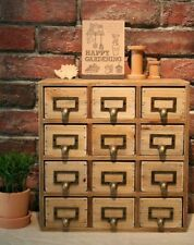 Wooden Vintage Trinket Rustic Storage Design Office Organiser Chest Drawers Unit