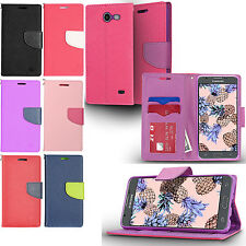 For Samsung Galaxy J7 Sky Pro Leather Wallet Case Pouch Flip Phone Cover