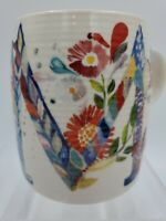 Anthropologie Starla Halfmann Petal Palette Coffee Cup Mug Initial Monogram M