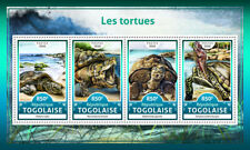 Togo 2016 MNH Turtles Green Sea Turtle 4v M/S Tortues Reptiles Stamps