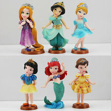 6x Princess Sofia Mermaid Snow White Ariel Tinkberbell Charm Toy  Birthday Gift